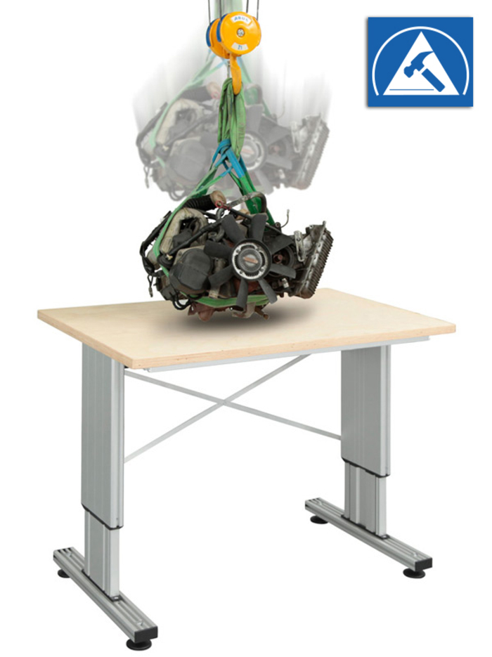 Mulitlift II impact - making it ideal for industrial assembly tables