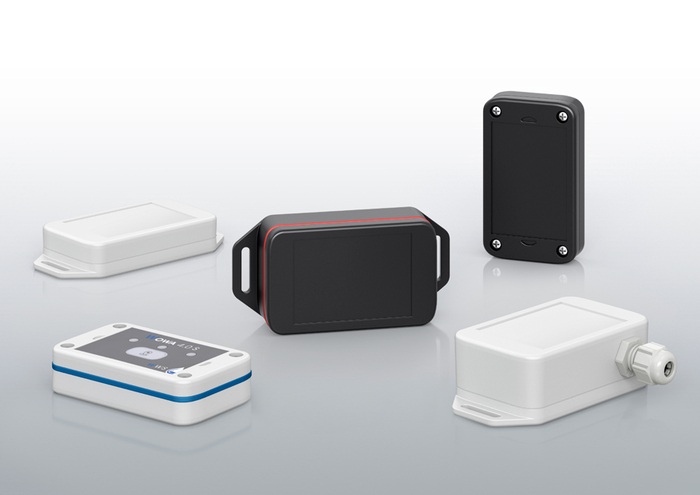 The new BoLink IoT sensor enclosure series consists of a total of 18 variants with three heights and two protection classes